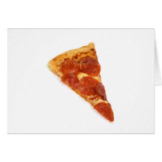 Pepperoni-Pizza-Scheibe Karte