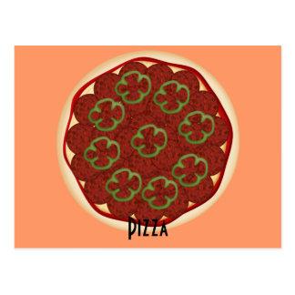 Pepperoni-und Paprikaschoten-Pizza-Rezept-Karte Postkarte