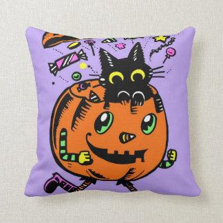 Peppy Kürbis-und Kitty-Halloween-Leckerei-Kissen Kissen