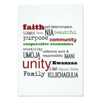 Per Definition Kwanzaa-Feiertags-Party Einladungen