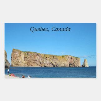 Percé Felsen im Golf des St. Lawrence Rechteckiger Aufkleber