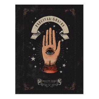 Percival-Grab-magische Handgraphik Postkarte