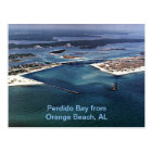Perdido Bucht vom orange Strand, AL Postkarte