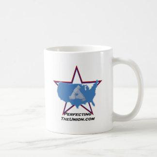 PerfectingTheUnion Logo Kaffeetasse