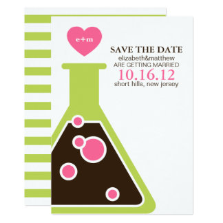 Perfekte Chemie, die Save the Date Wedding ist Karte