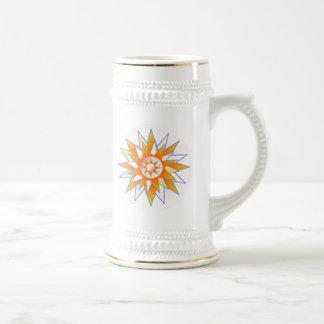 Perfekte GoldSteins:  Sonnenschein-Stern Bierkrug