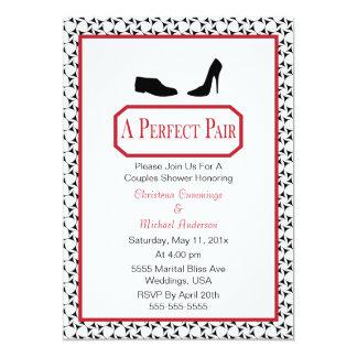 Perfekte stilvolle Schuh-Polterabend-Einladung Karte
