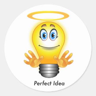 Perfekter Ideen-Aufkleber Runder Aufkleber