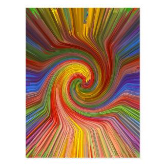 Perfekter ROTATION Regenbogen-grafische Liebe Postkarten