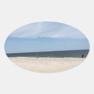 Perfekter Strand-Tag Ovaler Aufkleber