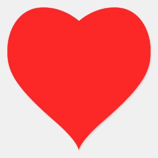 Perfektes Herz Herz-Aufkleber