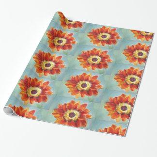 Perfektes Orang Sonnenblume-Packpapier Geschenkpapier