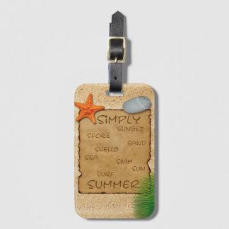 Pergament auf Sand-Hintergrund - Gepäckanhänger