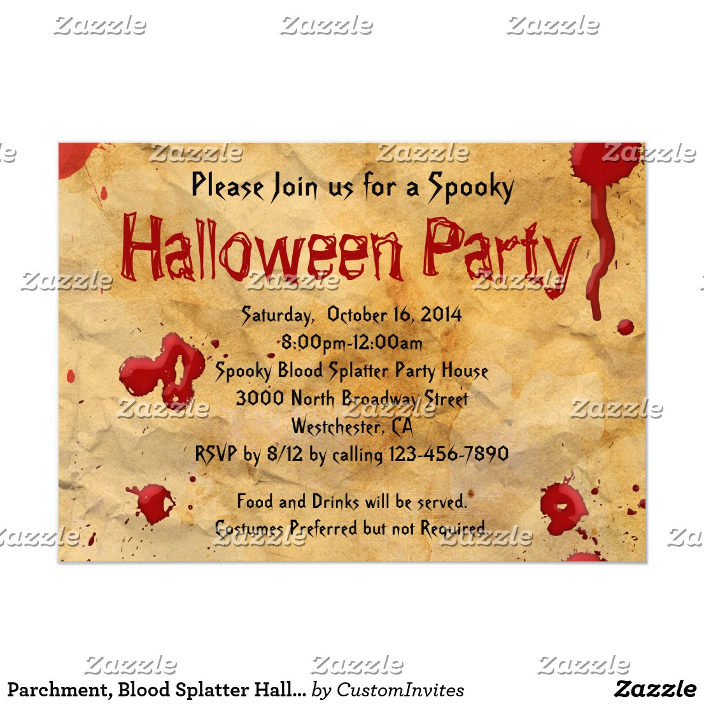 Text Halloween Einladung
