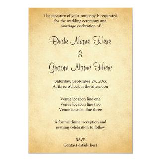 Pergament-Muster-Entwurfs-Hochzeit Individuelle Ankündigungskarte