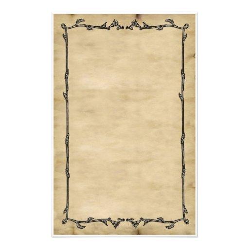 pergament rebe briefpapier bedrucktes papier zazzle. Black Bedroom Furniture Sets. Home Design Ideas