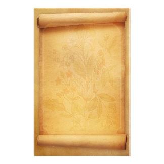 Pergament-Rolle-Blick-Briefpapier Individuelles Druckpapier