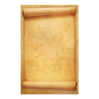 Pergament-Rolle-Blick-Briefpapier Büropapier