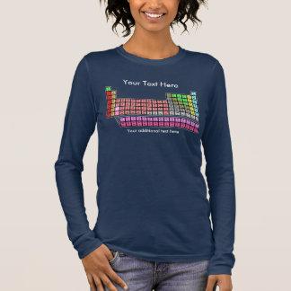 Periodensystem (dunkel) langarm T-Shirt