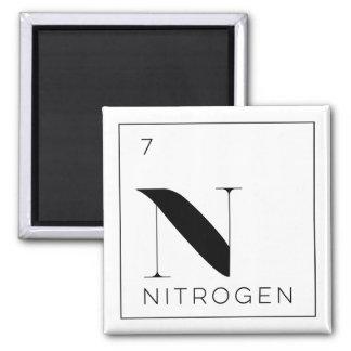 Periodensystem-Element-Knopf-//-Stickstoff Quadratischer Magnet