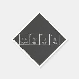 Periodensystem-Geniecocktailserviette Servietten