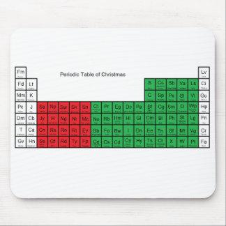 """""""Periodensystem von Weihnachten"""" Mousepad"""
