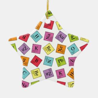 Periodische Elemente Keramik Stern-Ornament