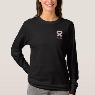 Perlen-Bewusstseins-Band-Shirt Besticktes Langarmshirt
