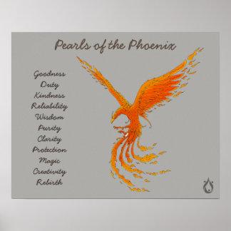 Perlen des Phoenixvoyager-Plakats Poster
