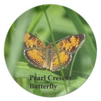 Perlen-Halbmond-Schmetterling Melaminteller