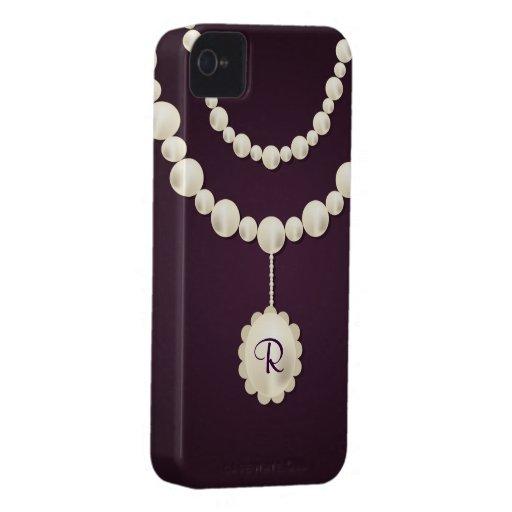 Perlen-Halskette iPhone 4 Case-Mate kaum dort