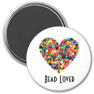 Perlen-Liebhaber Runder Magnet 7,6 Cm