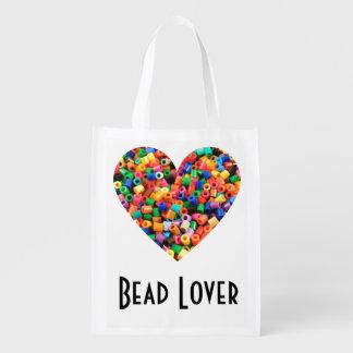 Perlen-Liebhaber Wiederverwendbare Einkaufstasche