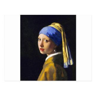 Perlen-Ohrring ~ Vermeer des Mädchen-w Postkarten