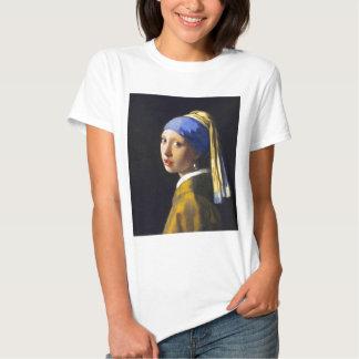 Perlen-Ohrring ~ Vermeer des Mädchen-w T-shirt