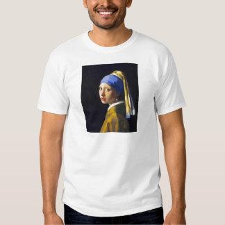 Perlen-Ohrring ~ Vermeer des Mädchen-w T Shirts