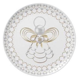 Perlen und Gold - mit Filigran geschmückter Teller