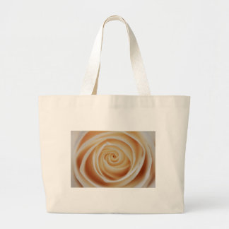 Perlen-Weiß-Rose Jumbo Stoffbeutel