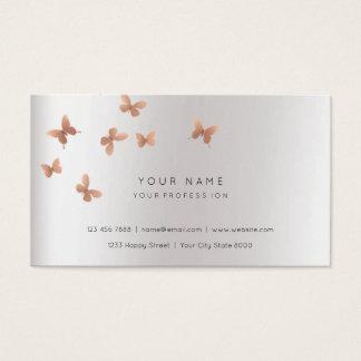 Perliges Silber rosa GoldImitat-weißer grauer Visitenkarte