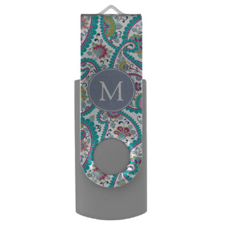 Perser Boteh Paisley Muster-Monogramm USB USB Stick