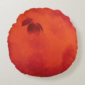 PERSIMONE-BLATT herrliche Orange Rundes Kissen