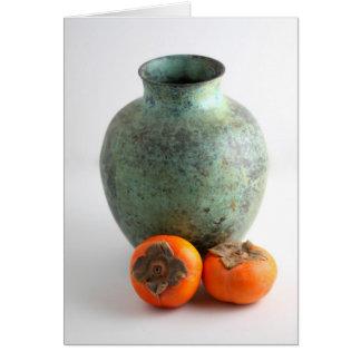 Persimone mit Vase Karte