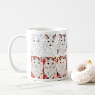 Persische Katze von Skizze zu Porträt Kaffeetasse
