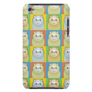 Persische Katzen-Cartoon Pop-Kunst (Weiß, flach) Barely There iPod Case