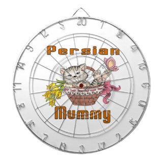 Persische Katzen-Mamma Dartscheibe