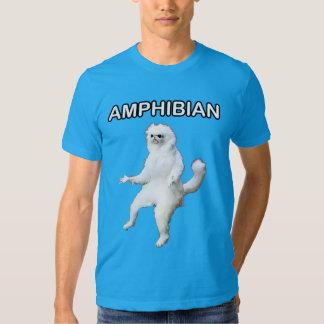 Persische Katzen-Raum-Wächter amphibisch Meme T-Shirts