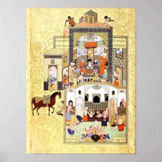 Persische Miniatur: Der Derwisch im Hammam Poster