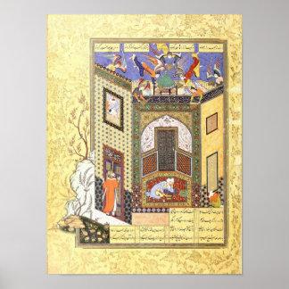 Persische Miniatur: Eine Vision von Engeln Poster