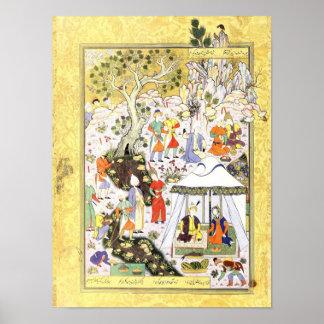 Persische Miniatur: Khusraw Parviz u. Shirin Poster