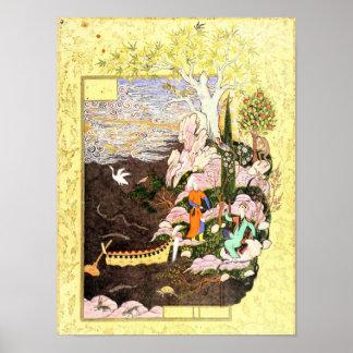 Persische Miniatur: Salaman u. Absal Poster